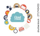 cloud storage design over white ... | Shutterstock .eps vector #271745453