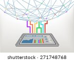 cloud computing connected to...   Shutterstock .eps vector #271748768