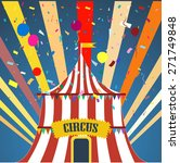 circus with confetti and rays.... | Shutterstock .eps vector #271749848
