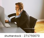 young business man speaking on...   Shutterstock . vector #271750073