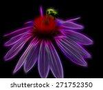 Bee On Neon Flower