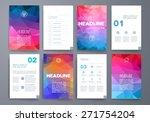 template. vector brochure... | Shutterstock .eps vector #271754204