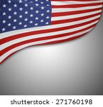 american flag on grey background | Shutterstock . vector #271760198