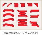 ribbon banner set.vector... | Shutterstock .eps vector #271764554