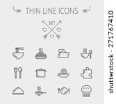 food thin line icon set for web ... | Shutterstock .eps vector #271767410