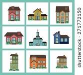 real estate design over blue... | Shutterstock .eps vector #271772150
