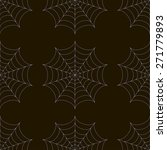 seamless pattern with spiderweb | Shutterstock .eps vector #271779893