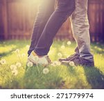 young couple kissing in a... | Shutterstock . vector #271779974