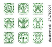 set of outline tree monograms... | Shutterstock .eps vector #271780004