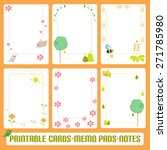 gentle romantic cards  notes ... | Shutterstock .eps vector #271785980