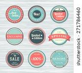 vintage labels template set ... | Shutterstock .eps vector #271786460