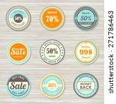 vintage labels template set ... | Shutterstock .eps vector #271786463