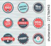 vintage labels template set ... | Shutterstock .eps vector #271786943