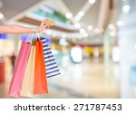 credit card  shopping bag ... | Shutterstock . vector #271787453