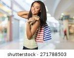 shopping  credit card  women. | Shutterstock . vector #271788503