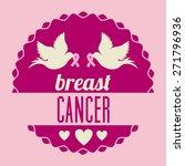 breast cancer design over pink...   Shutterstock .eps vector #271796936