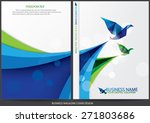 annual report cover design | Shutterstock .eps vector #271803686