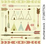 teepee tents and arrows... | Shutterstock .eps vector #271807526