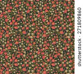 seamless pattern with small... | Shutterstock .eps vector #271809860