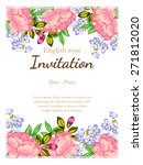 english rose. romantic... | Shutterstock .eps vector #271812020