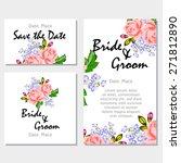 english rose. wedding... | Shutterstock .eps vector #271812890