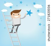 a man achieve to get the star | Shutterstock .eps vector #271820036