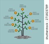 infographic business  tree and... | Shutterstock .eps vector #271823789