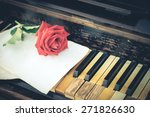 vintage paper  roses and keys... | Shutterstock . vector #271826630