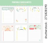 romantic and love cards  notes  ... | Shutterstock .eps vector #271828190