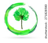 creative eco logo. green tree... | Shutterstock .eps vector #271828580