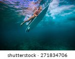 picture of surfing a wave.under ...   Shutterstock . vector #271834706