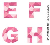 pink abstract alphabet   Shutterstock .eps vector #271836608