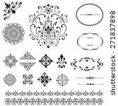 ornament set   set of black... | Shutterstock .eps vector #271837898