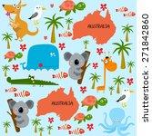 "vector background ""australia""   Shutterstock .eps vector #271842860"
