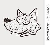 werewolf doodle | Shutterstock . vector #271843643