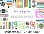school supplies on white... | Shutterstock . vector #271844300