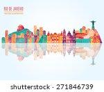 rio de janeiro detailed skyline.... | Shutterstock .eps vector #271846739