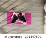 top view  young woman doing... | Shutterstock . vector #271847570
