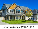 luxury residential house with... | Shutterstock . vector #271851128