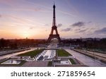 eiffel tower and fountain at... | Shutterstock . vector #271859654