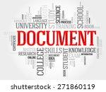 document word cloud  business... | Shutterstock .eps vector #271860119