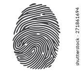 black fingerprint shape. secure ... | Shutterstock .eps vector #271861694