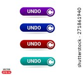 undo icon button. abstract... | Shutterstock .eps vector #271861940