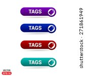 sale tags icon button. abstract ... | Shutterstock .eps vector #271861949