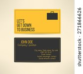 business card template made in... | Shutterstock .eps vector #271866626