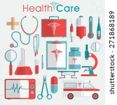 set of health care elements... | Shutterstock .eps vector #271868189