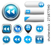 media  player button icon | Shutterstock . vector #271877540