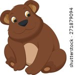cute brown bear cartoon | Shutterstock . vector #271879094