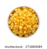 Corn In A Bowl On A White...