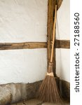An Old Wooden Straw Broom...